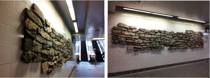 Battery Wall in South Ferry Station