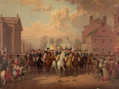 Washington-and-Clinton-Enter-New-York-City-after-the-American-Revolution